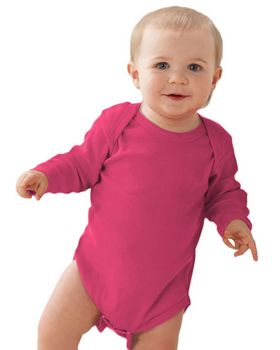 Rabbit Skins 4411 Infant Long-Sleeve Lap Shoulder Creeper