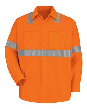Red Kap SS14HVT High Visibility Work Shirt Tall Sizes