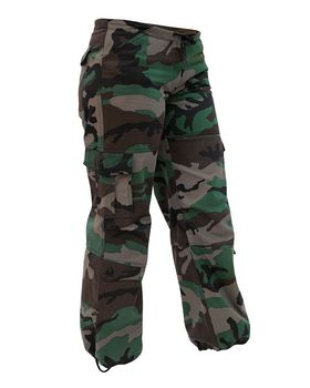 Rothco Womens Unwashed Camo Paratrooper Fatigue Pants