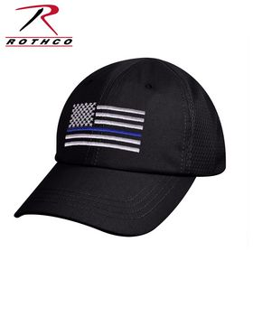 Rothco 9973 Tactical Mesh Back Cap With Thin Blue Line Flag