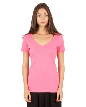 Simplex Apparel SI1020 Ladies Combed Ring-Spun Cotton Deep-V T-Shirt