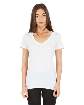 Simplex Apparel SI2020 Ladies CVC Deep V-Neck T-Shirt