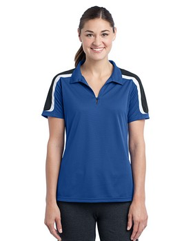 Sport-Tek LST658 - Ladies Tricolor Shoulder Micropique Sport-Wick  Polo
