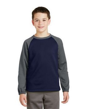 Sport-Tek YST242 Youth Raglan Fleece Crewneck