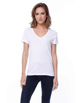 Startee ST1212 Ladies Cotton V-Neck T-Shirt