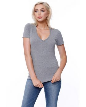 Startee ST1512 Ladies Triblend V-Neck T-Shirt