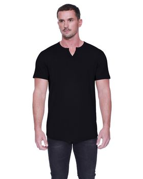 Startee ST2822 Mens Cotton/Modal Slit V-Neck