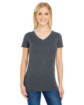 Threadfast Apparel 208B Ladies Vintage Dye Short-Sleeve V-Neck Tee