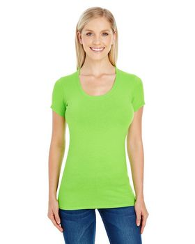 Threadfast Apparel 220S Ladies Spandex Short-Sleeve Scoop Neck Tee