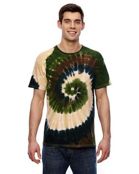 Tie-Dye CD100 Men's Cotton Tie-Dyed T-Shirt