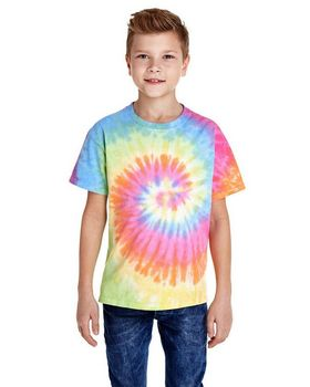 Tie-Dye CD100Y Youth 100% Cotton Tie-Dyed T-shirt
