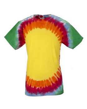 Tie Dye H1140B Youth Flourescent Swirl and Vee Rainbow Cotton Tee