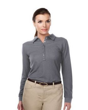 Tri-Mountain Performance KL103LS Womens Stamina Long Sleeve Golf Shirt