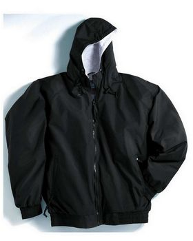 Tri-Mountain 3600 Bay Watch Nylon Hooded Jacket with Jersey Lining