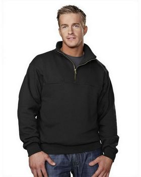 Tri-Mountain 644 React Cotton Poly 1/4 Zip Firefighter's Work Shirt