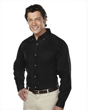 Tri-Mountain 770 Men's 60/40 stain resistant long sleeve twill shirt