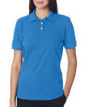 UltraClub 7510L Ladies Platinum Honeycomb Pique Polo