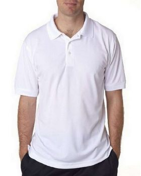 UltraClub 8315 Mens Platinum Performance Piqué Polo with TempControl Technology
