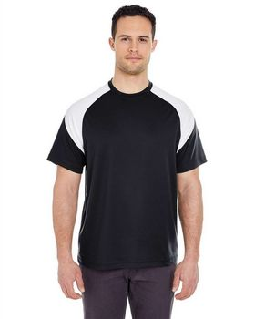 Ultraclub 8399 Shoulder Block Tee