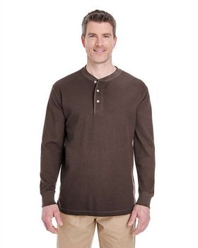 Ultraclub 8456 Men's Thermal Henley