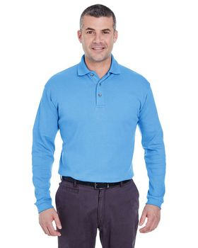 Ultraclub 8501 Long-Sleeve Interlock Polo Shirt