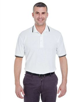 Ultraclub 8545 Men's S-Sleeve Whisper Pique Polo