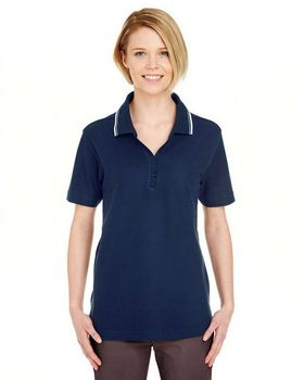 Ultraclub 8546 Ladies' S-Sleeve Whisper Pique Polo
