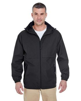 Ultraclub 8908 Hooded Zip Jacket - Shop at ApparelnBags.com