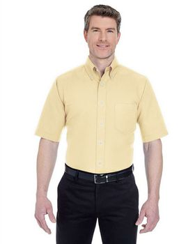Ultraclub 8972 Short-Sleeve Oxford Dress Shirt