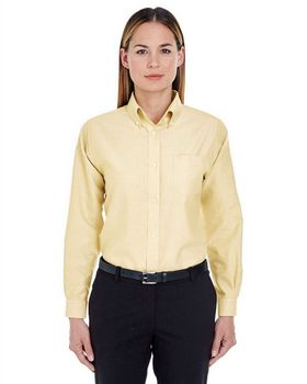 Ultraclub 8990 Ladies Oxford Shirt - Shop at ApparelnBags.com