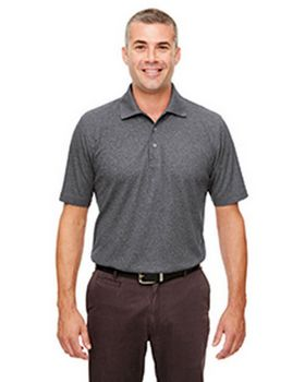 Ultraclub UC100 Mens Heathered Pique Polo