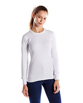 US Blanks US199 Women's 5.8 oz. Long-Sleeve Thermal Crewneck