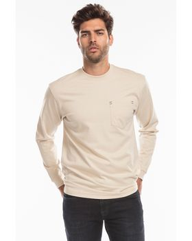 Us Blanks US5544 Mens Flame Resistant Long Sleeve Pocket T-Shirt