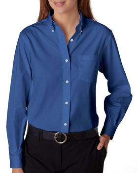 Van Heusen 13V0110 Ladies' Wrinkle-Resistant Blended Pinpoint Oxford