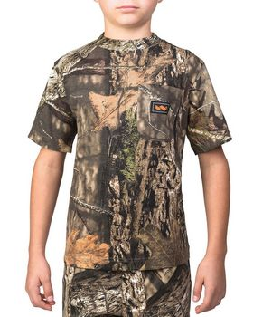 Walls Outdoor 56312 Youth Hunting Short-Sleeve Pocket T-Shirt