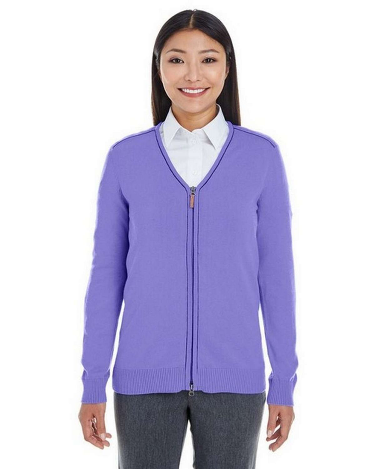 c119215ae9 Buy Devon   Jones DG478W Ladies Manchester Fully-Fashioned Full-Zip Sweater