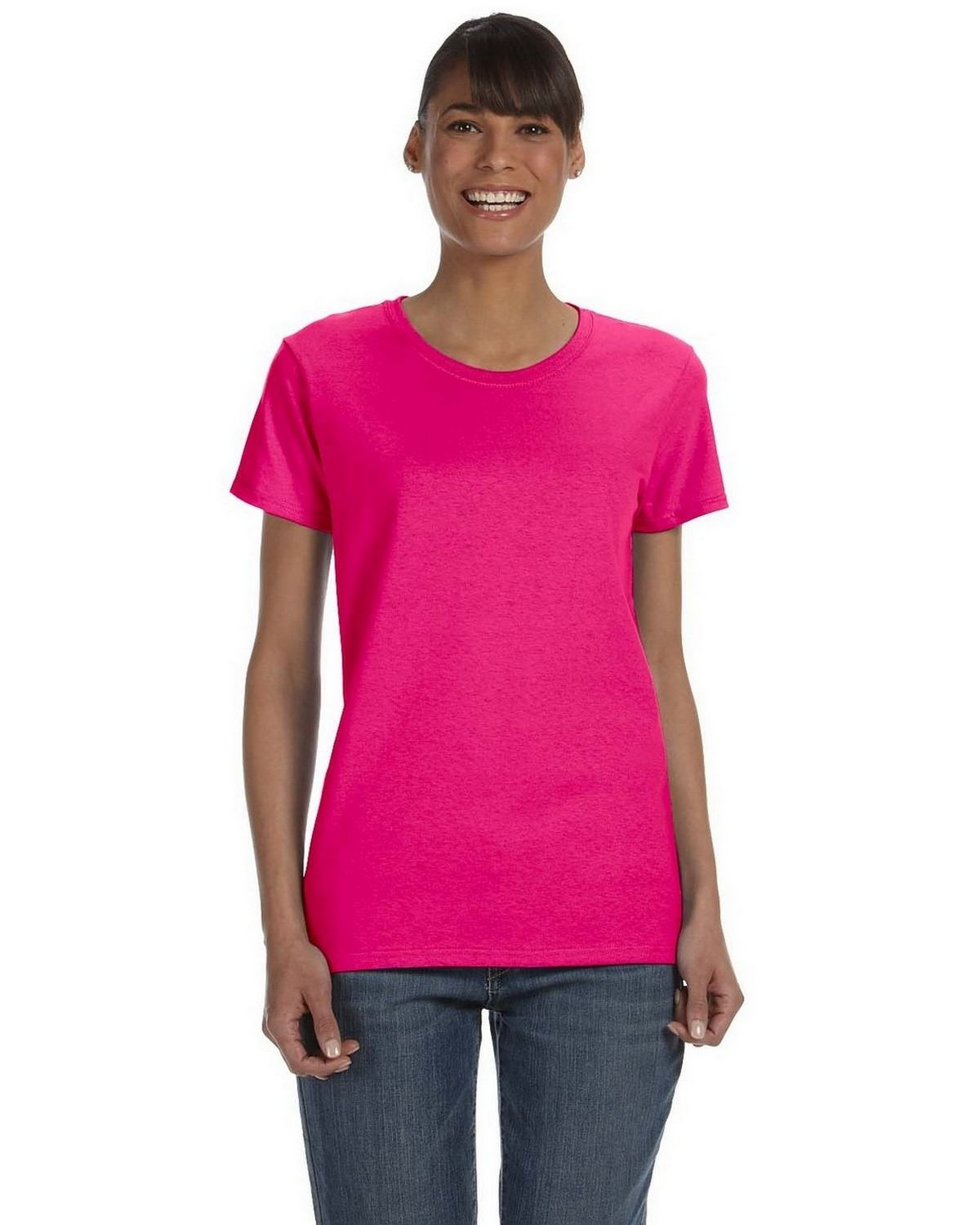 Gildan G500L Ladie Heavy Cotton Missy Fit T Shirt - ApparelnBags.com