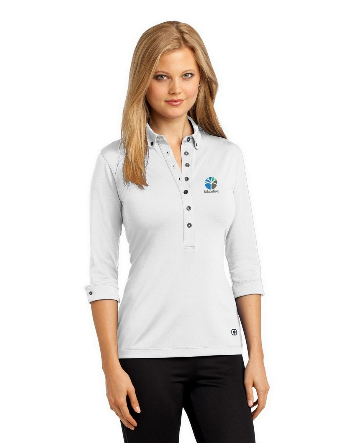 Buy Logo Embroidered Ogio Log122 Gauge Polo Shirt For Women