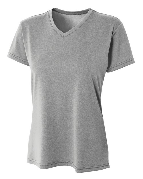 A4 NW3381 Womens Heather Performance V-Neck