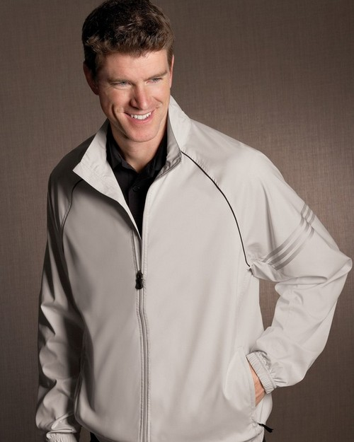Adidas Golf A69 Men's ClimaProof 3-Stripes Full-Zip Jacket
