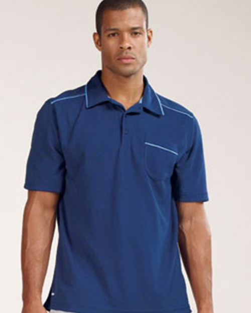 All Sport M1001 Mens Short Sleeve 3-Button Polo