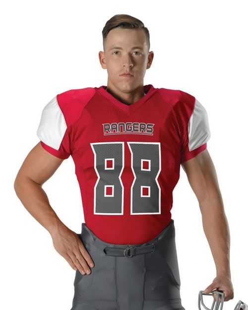 Alleson Athletic 792ZTN Men Stretch Football Jersey
