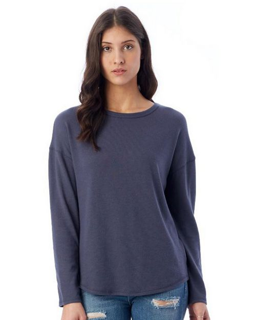 Alternative 7606 Women's Dropped Shoulder Vintage Heavy Knit Pullover