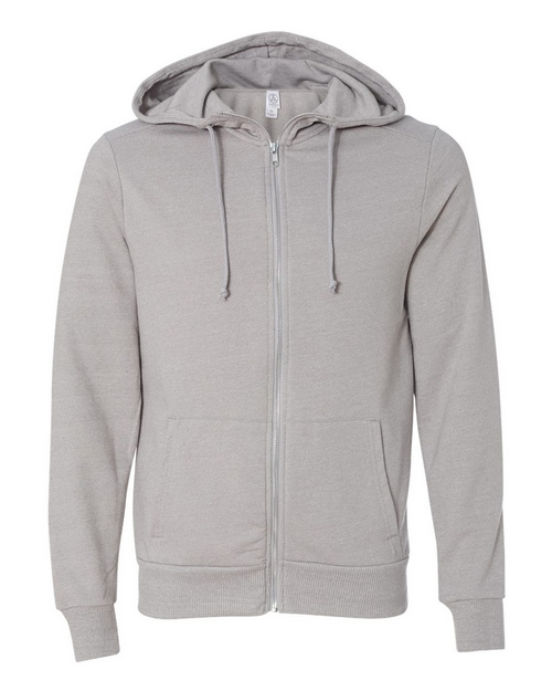 Alternative 9880 Mens Eco Mock Twist Rocky Hooded Full-Zip Sweatshirt