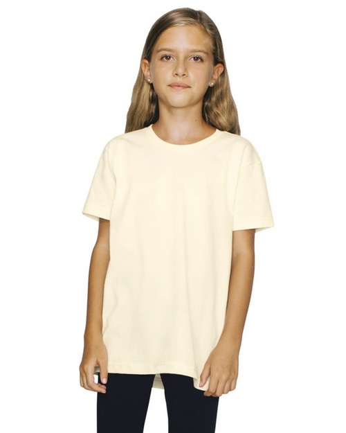 American Apparel 2201ORGW Youth Organic Fine Jersey Short Sleeve T-Shirt