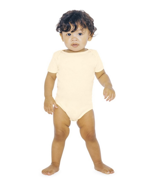 American Apparel Logo Embroidered Organic Rib One-Piece - For Infant