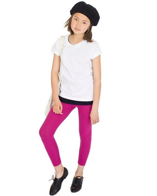 American Apparel 8228 Drop Ship Youth Cotton Spandex Jersey Legging