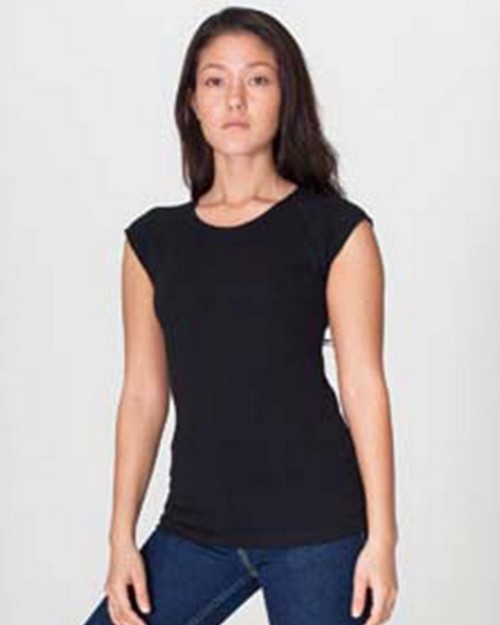 American Apparel AM6377 Drop Ship Ladies' Sheer Jersey Cap Sleeve Raglan