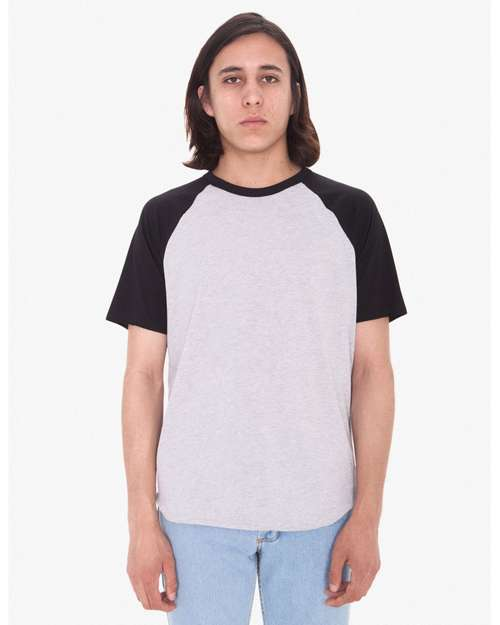 American Apparel BB4237W Unisex Poly Cotton Raglan T-Shirt