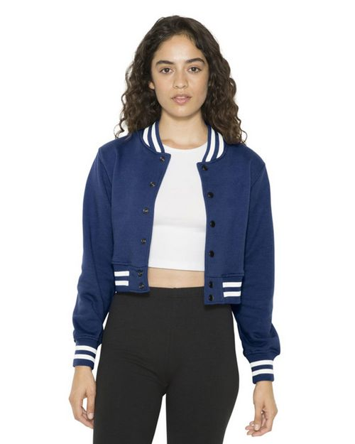 American Apparel HVT3529W Women's Heavy Terry Cropped Club Jacket